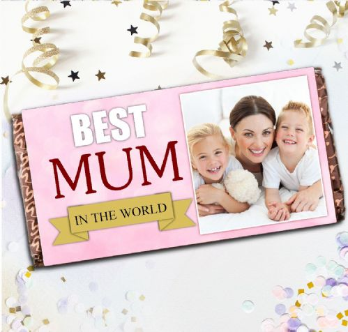 Personalised Mothers Day Milk Chocolate Bar - Best Mum Mothers Day Photo Gift N80